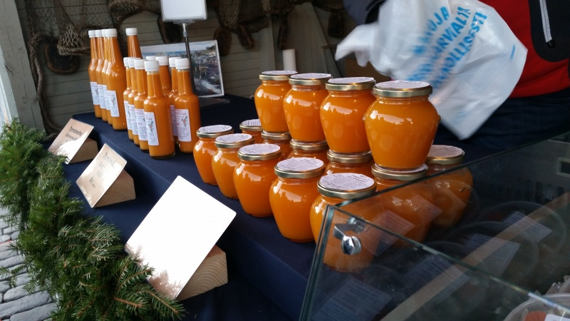 Juice and jam made from Sea buckthorn berries