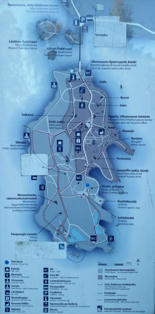 seurasaari island map