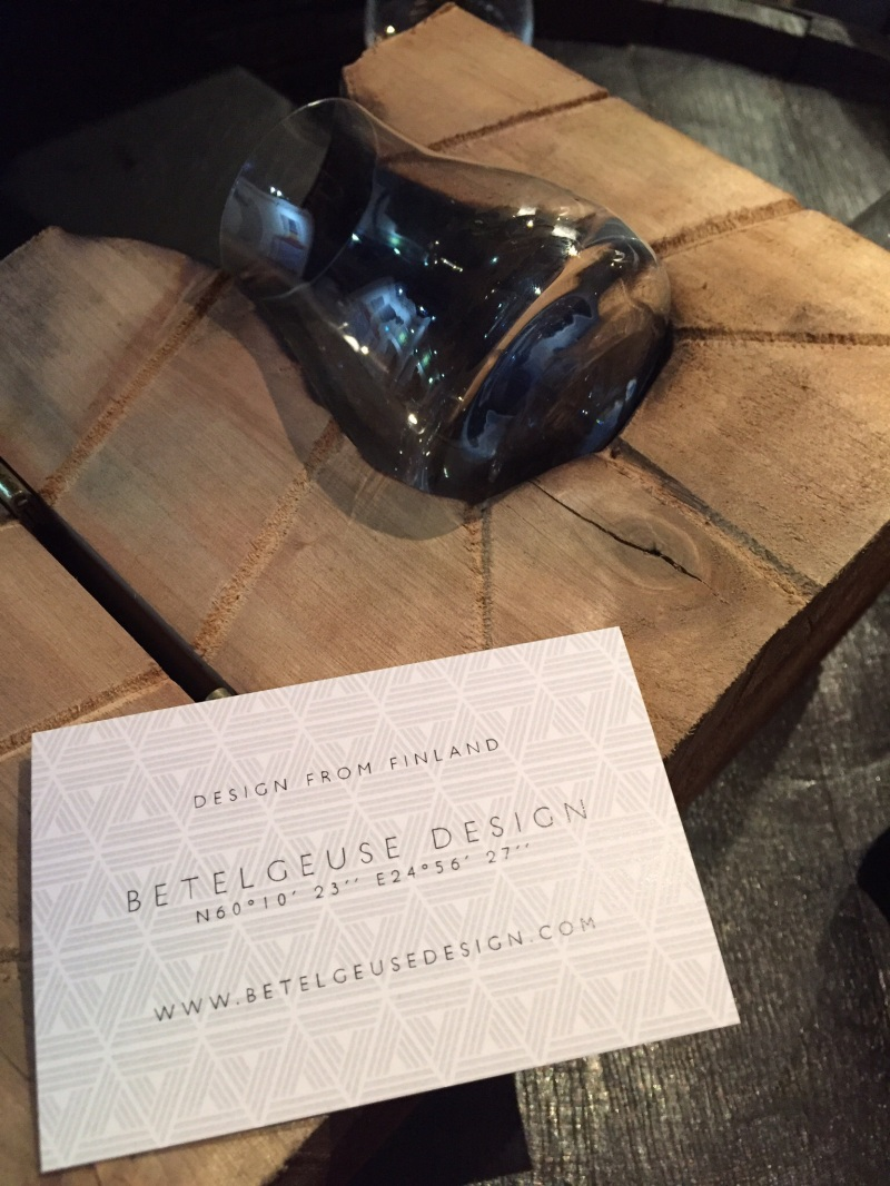 Betelgeuse Design whiskey glass at Uisge 2016 whisky festival