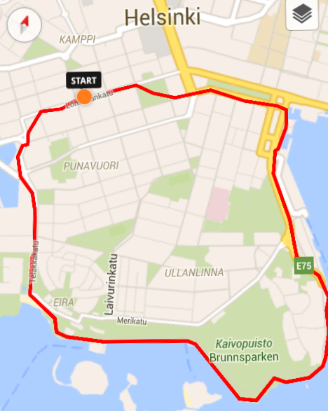 Running path in Helsinki