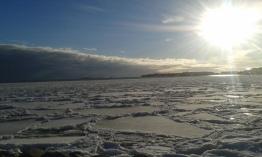 Sunny winter day in Helsinki