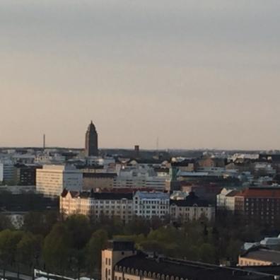 Helsinki from up
