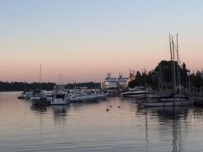Sunset boats Helsinki