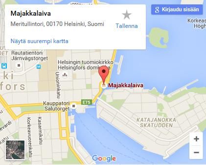 Map Majakkalaiva Helsinki