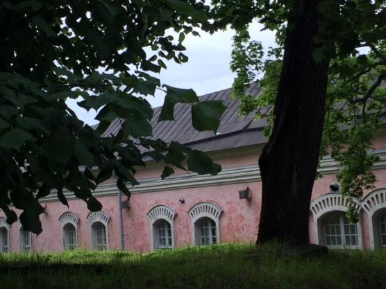 pink building Helsinki Suomenlinna