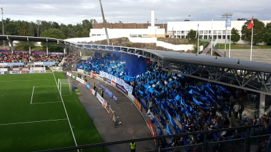 HJK fans at recent Stadin Derby