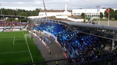 HJK fans at recent Stadin Derby