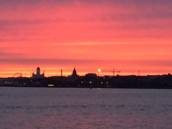Beautiful sunset Helsinki