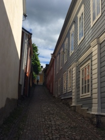 Narrow streets of Porvoo